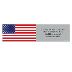 Personalized Independence Day Freedom Flag 5 Ft. Banner