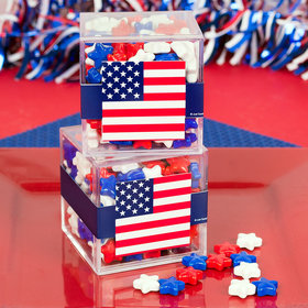4th of July JUST CANDY® favor cube with Candy Stars