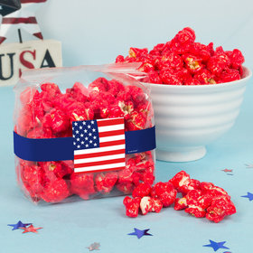 Patriotic American Flag Candy Coated Popcorn 3.5 oz Bags