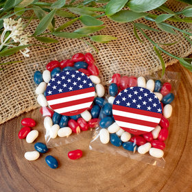 Patriotic Flag Candy Bags with Jelly Beans