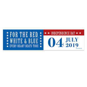 Personalized Independence Day Stars and Stripes 5 Ft. Banner