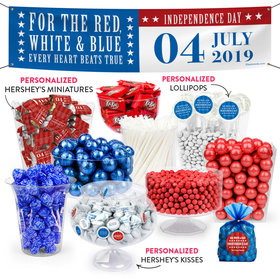 Personalized 4th of July Freedom Deluxe Candy Buffet