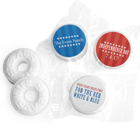 Personalized Patriotic Freedom Life Savers Mints