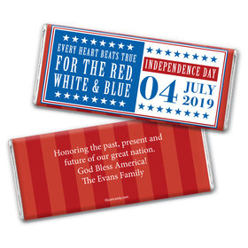 Personalized Patriotic Freedom Chocolate Bar & Wrapper
