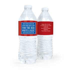 Personalized Independence Day Freedom Water Bottle Labels (5 Labels)