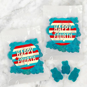 4th of July Star Spangled Stripes Candy Bags with Gummi Bears