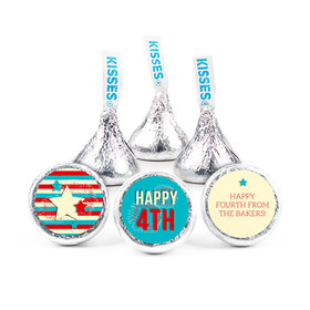 Personalized Independence Day Star Spangled Stripes Hershey's Kisses (50 pack)