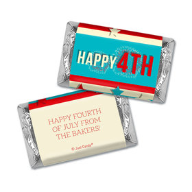 Personalized 4th of July Star Spangled Stripes Hershey's Miniatures Wrappers