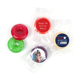 Personalized 4th of July All-American Photo LifeSavers 5 Flavor Hard Candy