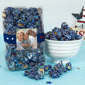 Personalized 4th of July All-American Photo Candy Coated Popcorn 8 oz Bags