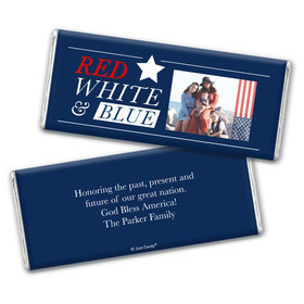 Personalized 4th of July All-American Photo Chocolate Bar & Wrapper