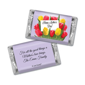 Mother's Day Personalized Hershey's Miniatures Wrappers Tulip Bouquet