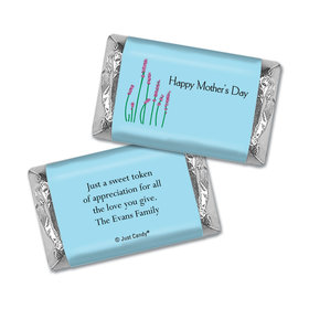 Mother's Day Personalized Hershey's Miniatures Wrappers Lavender Sprigs