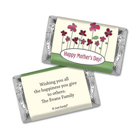 Mother's Day Personalized Hershey's Miniatures Wrappers Blooming Garden
