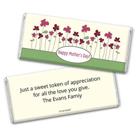 Mother's Day Personalized Chocolate Bar Wrappers Blooming Garden