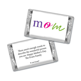 Mother's Day Personalized Hershey's Miniatures Wrappers Mom Is The Word