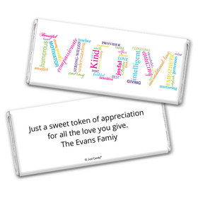 Mother's Day Personalized Chocolate Bar Wrappers Mom Is The Word