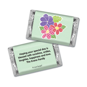Mother's Day Personalized Hershey's Miniatures Wrappers Quilted Flowers