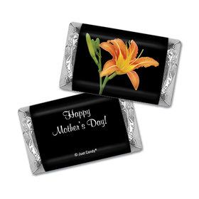 Mother's Day Personalized Hershey's Miniatures Wrappers Watercolor Daylily