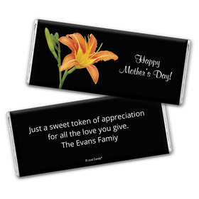 Mother's Day Personalized Chocolate Bar Wrappers Watercolor Daylily
