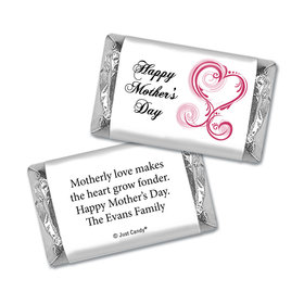 Mother's Day Personalized Hershey's Miniatures Wrappers Swirl Hearts