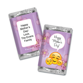 Personalized Mother's Day Hershey's Miniatures Wrappers Emoji
