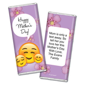 Personalized Mother's Day Emoji Chocolate Bar & Wrapper