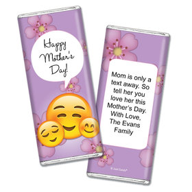 Personalized Mother's Day Emoji Chocolate Bar Wrappers