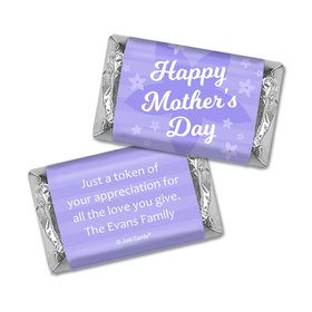 Personalized Mother's Day Hershey's Miniatures Purple Flowers