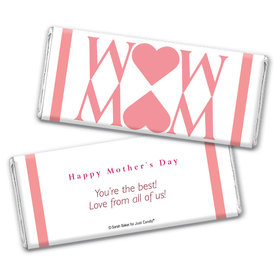 Personalized Mother's Day Heart Chocolate Bar & Wrapper