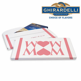 Deluxe Personalized Mother's Day Heart Ghirardelli Chocolate Bar in Gift Box