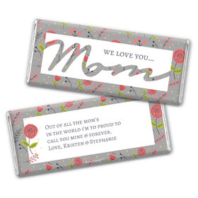 Personalized Mother's Day Motherly Wildflowers Chocolate Bar & Wrapper