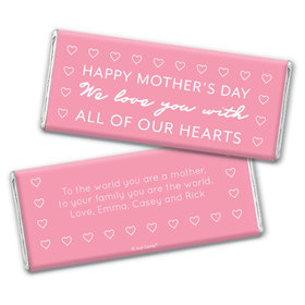 Personalized Mother's Day All Our Hearts Chocolate Bar & Wrapper