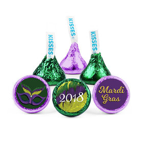 Personalized Mardi Gras Masquerade Hershey's Kisses (50 Pack)