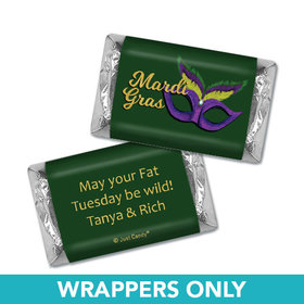 Personalized Mardi Gras Masquerade Mini Wrappers Only