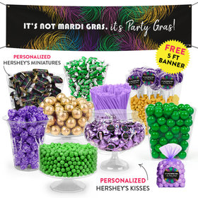 Personalized Mardi Gras Party Feathers Deluxe Candy Buffet