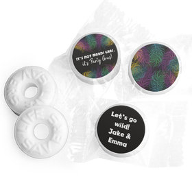 Personalized Mardi Gras Party Feathers Life Savers Mints