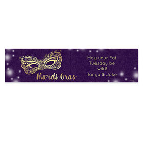Personalized Mardi Gras Golden Elegance 5 Ft. Banner
