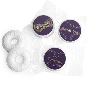 Personalized Mardi Gras Golden Elegance Life Savers Mints