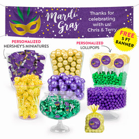 Personalized Mardi Gras Deluxe Candy Buffet