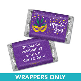 Personalized Mardi Gras Big Easy Mini Wrappers Only