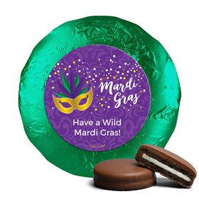 Personalized Mardi Gras Big Easy Milk Chocolate Covered Oreos