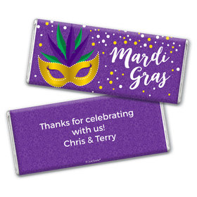 Personalized Mardi Gras Big Easy Chocolate Bar & Wrapper