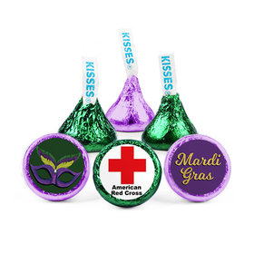 Personalized Mardi Gras Add Your Logo Hershey's Kisses (50 Pack)