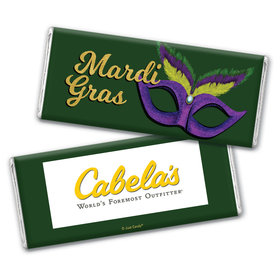 Personalized Mardi Gras Add Your Logo Chocolate Bar Wrappers Only