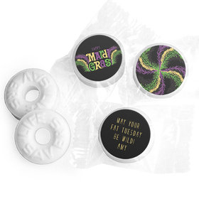 Personalized Mardi Gras Party Gras Life Savers Mints