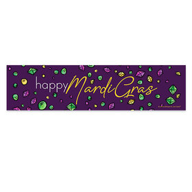 Mardi Gras Beads and Bling 5 Ft. Banner