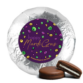 """Mardi Gras Beads & Bling 1.25"""" Stickers (48 Stickers)"""