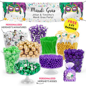 Personalized Mardi Gras Jammin' Jester Hats Deluxe Candy Buffet