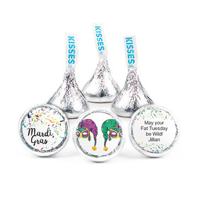 Personalized Mardi Gras Jammin' Jester Hats Hershey's Kisses (50 Pack)